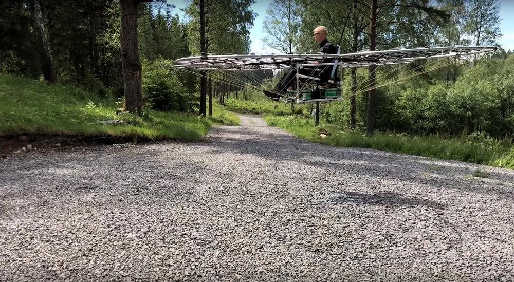 Разработан пассажирский мультикоптер на 76 роторах