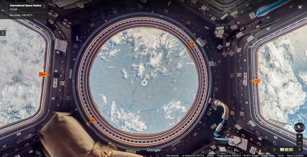 С помощью Google Street View теперь можно посмотреть на МКС
