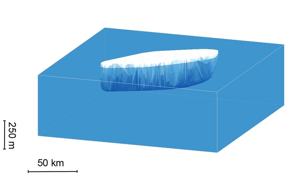 Спутник показал, что ледник Ларсон вскоре станет айсбергом