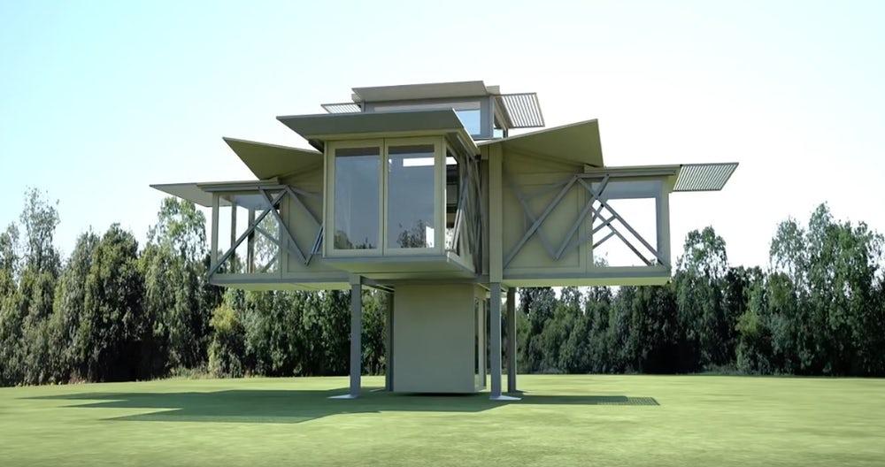 Представлен дом, который можно развернуть за несколько минут