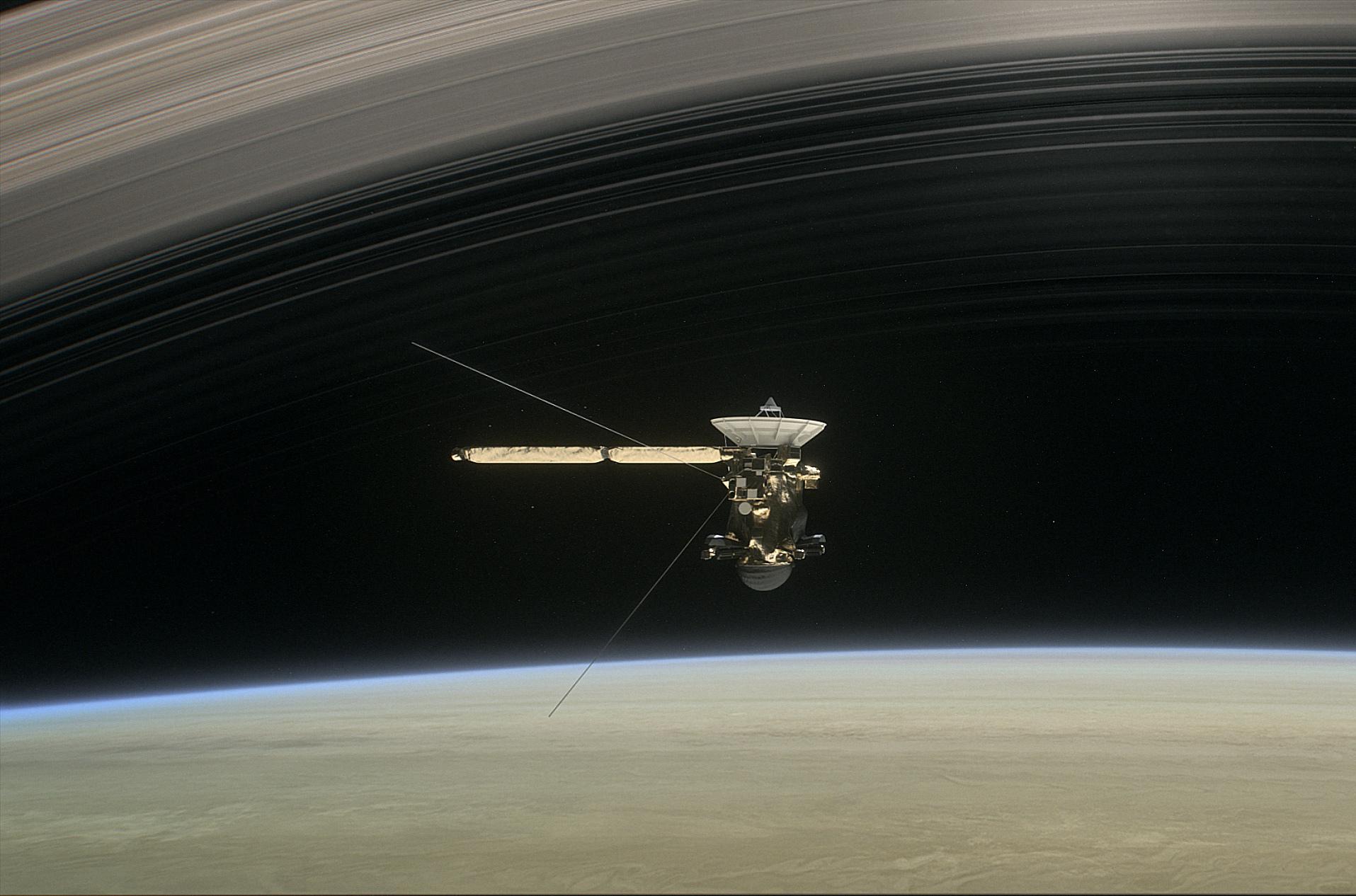 Зонд «Кассини» впоследний раз пролетит вокруг Сатурна