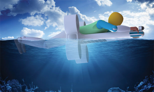 Создан концепт спасательного дрона-амфибии