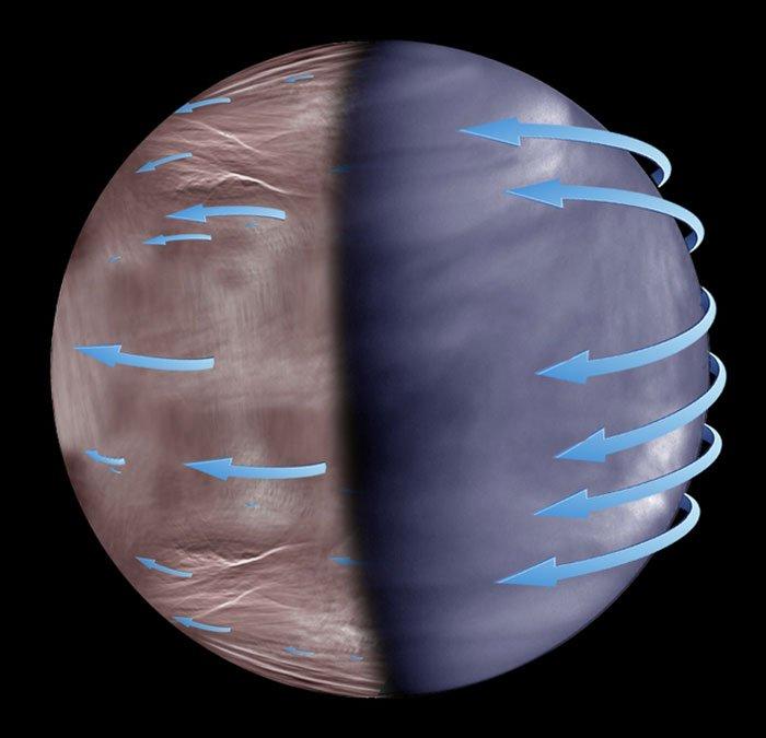 Астрономы изучили аномалии на черной стороне Венеры