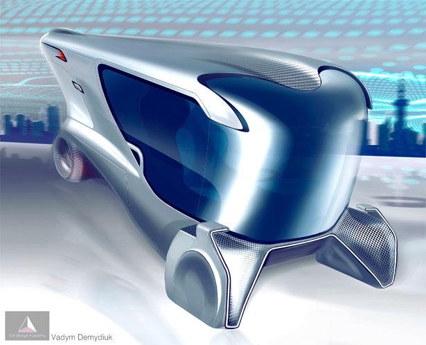 Украинец представил концепт электромобиля без аккумулятора