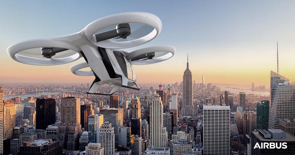 Airbus планирует запустить первые летающие такси до2019-го