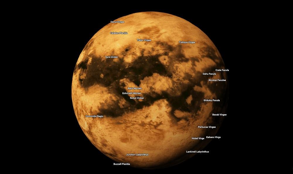 Google выпустил карты других планет и лун