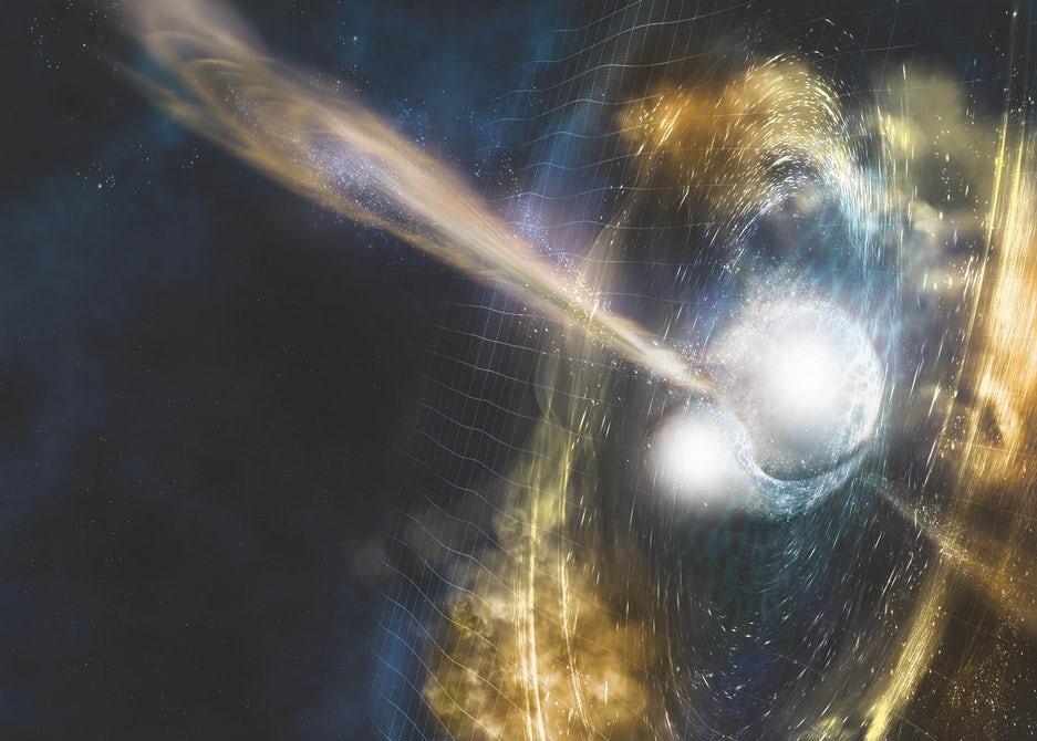 Впервые обнаружены гравитационные волны от столкновения двух нейтронных звезд