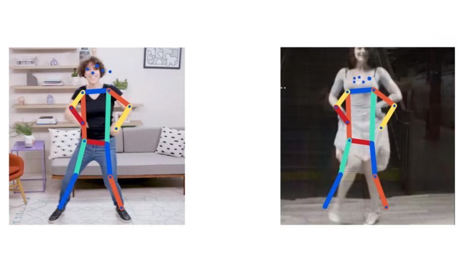 Move Mirror ищет фотографии попозе человека