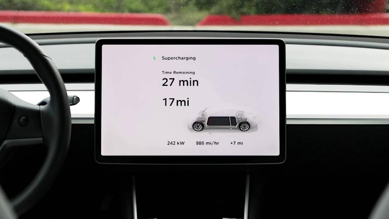 Tesla представила новейшую зарядную станцию Supercharger V3
