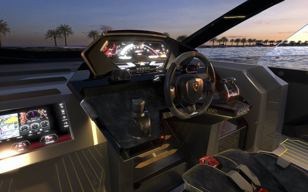 Lamborghini представила люксовую яхту сдвигателем начетыре тысячи «лошадей»
