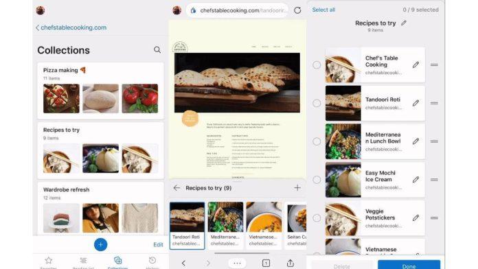Браузер Edge пополняется функцией Collections в своей мобильной версии