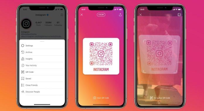 Instagram скопировал у Snapchat возможность поделиться профилем через QR-код