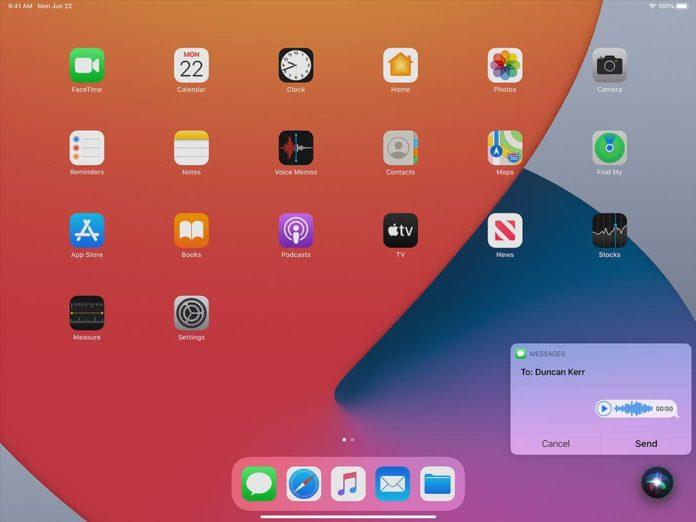 В новой версии iPadOS 14 помощник Siri будет занимать меньше места
