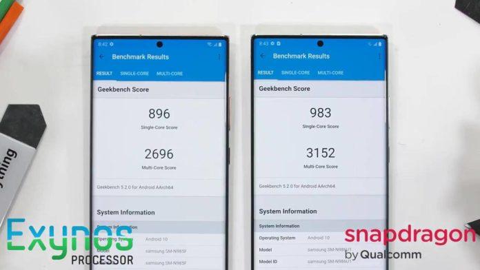 Galaxy Note 20 Ultra удивляет разницей в своих чипах