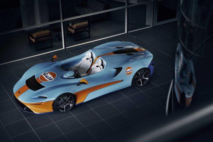 Концерн McLaren готовит новую модель Elva в исполнении Gulf Livery
