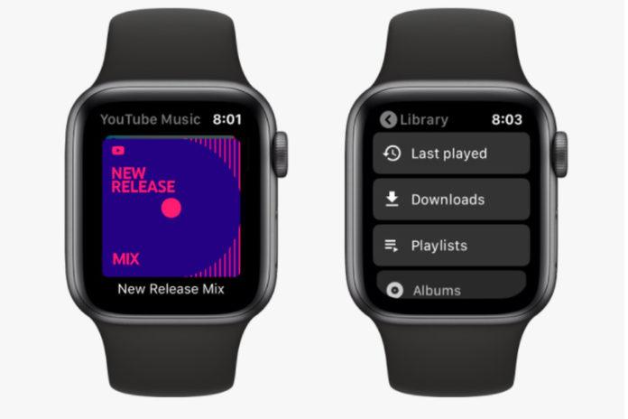 YouTube Music вышел на Apple Watch раньше чем на часы с Wear OS