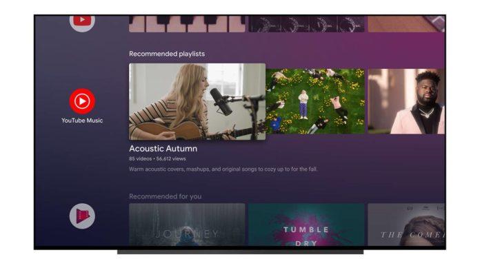 Приложение YouTube Music получает обновление для умных телевизоров
