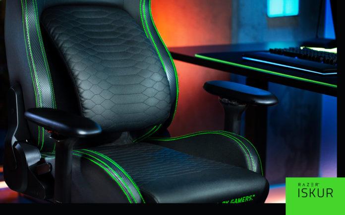 Razer подготовило кресло Iskur для геймеров, следящих за осанкой