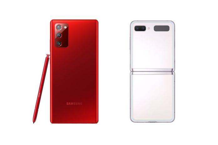 Galaxy Note 20 и Z Flip 5G доступны в праздничных цветах