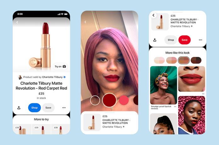 Pinterest интегрирует новые AR-алгоритмы для примерки теней для глаз