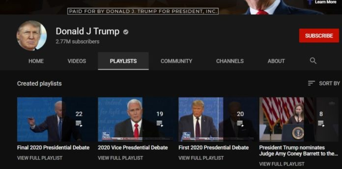 YouTube временно заблокировал канал Трампа