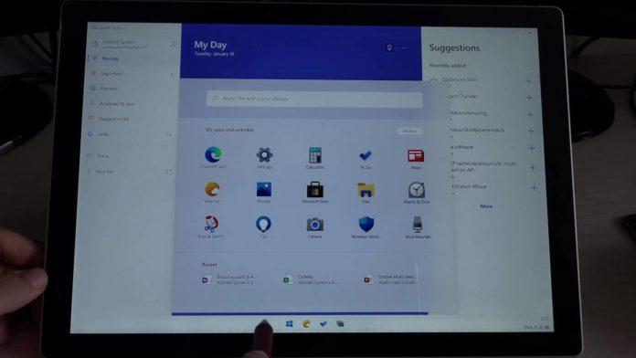 Windows 10X получил расширенную систему сенсорного управления