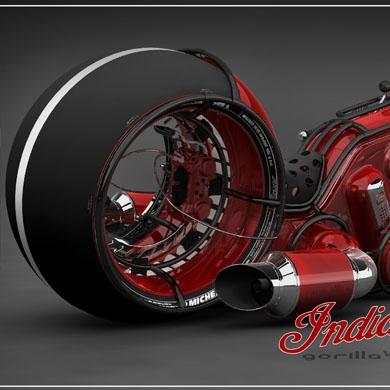 Мотоцикл indian gorilla v4 впечатляющие