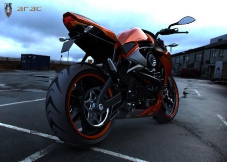 мотоцикл с мощным двигателем